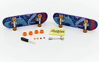 Фінгерборд-міні скейт SK-12011 (2фінгерборда,4зап.колеса,1ключ, 1викр,2гайки, пластик,металл)