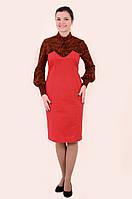 Платье женское,Пл 041-2, платье с гольфом, одежда для офиса, одежда для молодежи, платье-корсет .