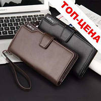 Кожаный мужской клатч, кошелек Baellerry Business (Портмоне, бумажник). Есть 2 цвета!