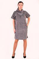 Платье женское  свободного кроя,платье балон, большие размеры, не приталенное,Пл 087-7.