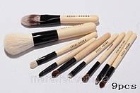 Натуральные кисти для макияжа Bobbi Brwn 9 без логотипа