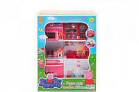Игровой набор Кухня Свинки Пеппы Peppa Pig с микроволновкой, посудой, свет, звук