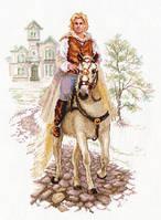 """Набор для вышивки крестом """"Алиса"""" Юноша на белом коне 4-17"""