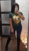 Женский свитер джемпер с коротким рукавом стиль Valentino