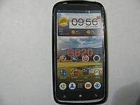 Чехол силиконовый для телефона смартфона Lenovo S820 чёрный
