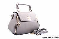 Стильная женская сумка Louis Vuitton серая
