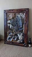 Настенная резная картина из дерева Орел