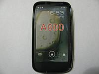 Чехол силиконовый для телефона смартфона Lenovo A800 чёрный