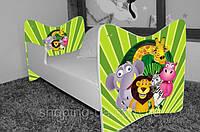 """Детская кровать Junior BABY BOO + матрас 140 х 70см """"Зверята"""""""