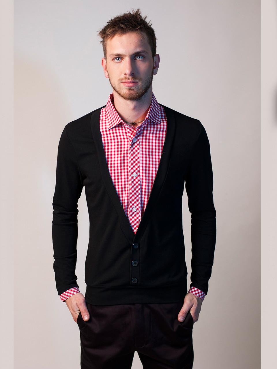 Пуловер С Рубашкой Мужской Доставка