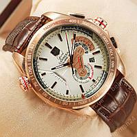 Мужские наручные часы Tag Heuer Grand Carrera Calibre 36 Pink Gold/White