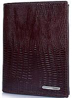 Стильное мужское портмоне из кожи под крокодила GRASS (ГРАСС) SHI325-33