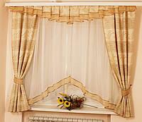 Комплект штор для кухни Уголок лен