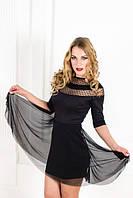 Модное клешное трикотажное платье