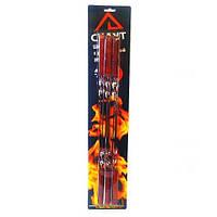Набор шампуров Скаута 6шт 45см с деревянными ручками