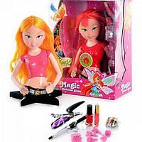 Блум кукла-манекен Winx(Винкс) Блум музыкальная для создания причесок и макияжа