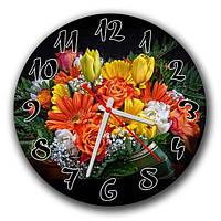 Часы настенные круглые Живые цветы 30х30см ATR 35