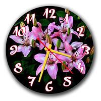 Часы настенные круглые Живые цветы 30х30см ATR 32