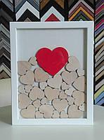 Рамка для пожеланий на 30 сердец