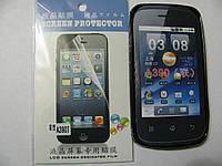 Чехол силиконовый + защитная плёнка для телефона смартфона Lenovo A390 чёрный