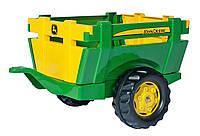 Прицеп для трактора 2-х колесный John Deere Rolly Toys желто-зеленый