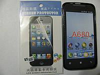 Чехол силиконовый + защитная плёнка для телефона смартфона Lenovo A680 чёрный