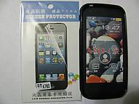 Чехол силиконовый + защитная плёнка для телефона смартфона Lenovo A760 чёрный