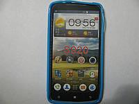 Чехол силиконовый + защитная плёнка для телефона смартфона Lenovo S920 синий