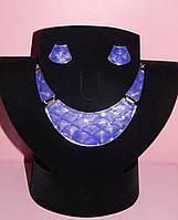 Комплект  «колье и серьги фиолетовый»