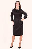 Платье женское  свободного кроя,большие размеры, полуприталеное ,Пл 098-1 , по колено, купить.