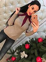 Женский модный свитер-гольф (2 цвета)