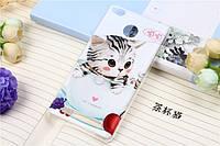 Чехол бампер силиконовый на Xiaomi Redmi 3S с рисунком Кот в чашке