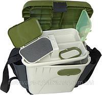 Ящик рыболовный зимний с карманами для принадлежностей и приманки Aguatech