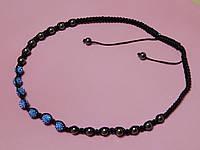 Ожерелье - бусы «Шамбала». Цвет голубой