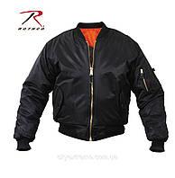 Лётная куртка-пилот Rothco МА-1 чёрная, размер S (48-50)