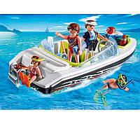 Конструктор Playmobil Семья на скоростном катере 4862