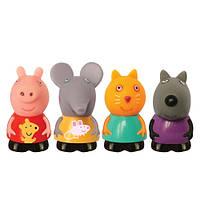 """Развивающие и обучающие игрушки «Peppa Pig» (27131) набор игрушек-брызгунчиков """"Пеппа и ее друзья"""", 4 фигурки"""
