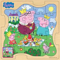 """Развивающие и обучающие игрушки «Peppa Pig» (25123) деревянный пазл """"Королевская семья Пеппы"""", 24 элемента"""