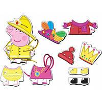 """Развивающие и обучающие игрушки «Peppa Pig» (25121) деревянный игровой набор-шнуровка """"Гардероб Пеппы"""""""