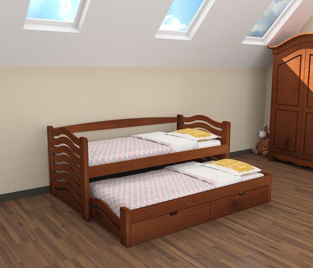 Односпальні ліжка з висувним додатковим