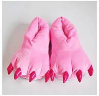 Розовые лапки тапки теплые