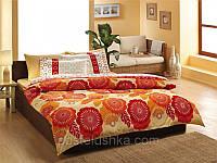 Комплект постельного белья Tac Saten Joy оранжевый
