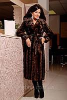 Шуба женская Вероника коричневая, купить шубу недорогую