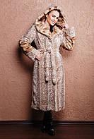 Женская шуба длинная Вероника леопард, шубы 2014