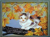 Роспись по номерам Непослушный котёнок, 40х50см. (G031, MG021, КН021)