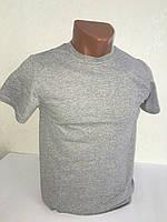 Серая мужская футболка 100% хлопок однотонная ФМ-15