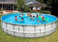 Intex Интекс28322 Каркасный бассейн Ultra Frame Pool + аксессуары