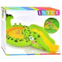 Надувной игровой центр бассейн Крокодил с горкой Intex Gator Play Center, арт. 57132 NP/EP