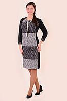 Платье женское , короткое ,трикотажное , молодежное ,48,50,52,54 , хлопок 50%, пл 141-2.