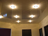 Потолок натяжной металлик,